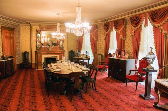 The dining room in Young's home