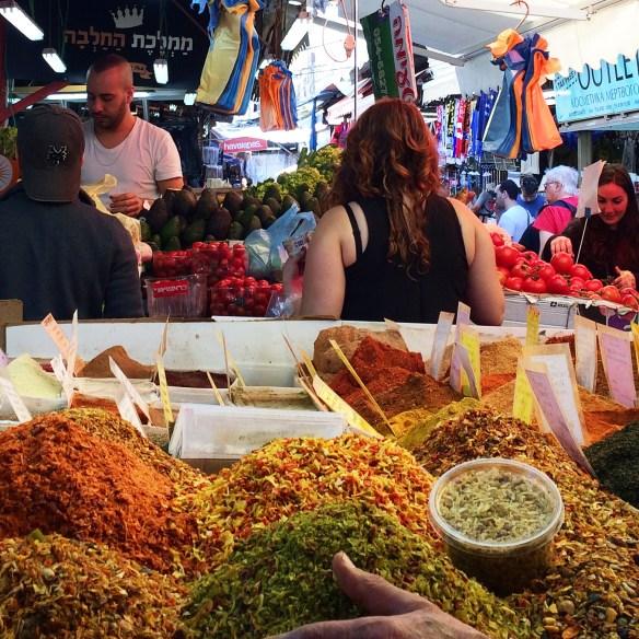 Tel Aviv market Carmel spice merchant