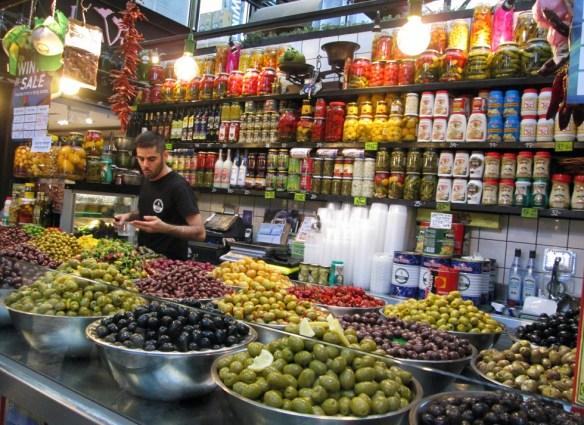 tel aviv markets olive seller sarona