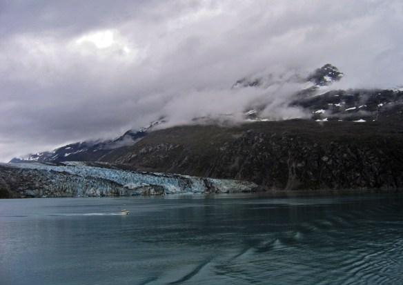 boat and glacier Glacier Bay