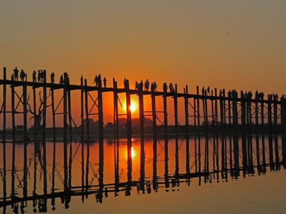 Cruise the Ayerawaddy Myanmar Ubein Bridge