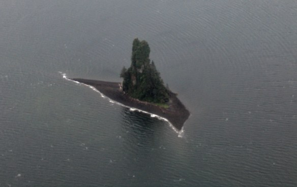 island from the air Alaska