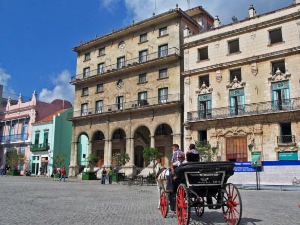 Havana buildings and caleche Cuba- Havana Architecure and History