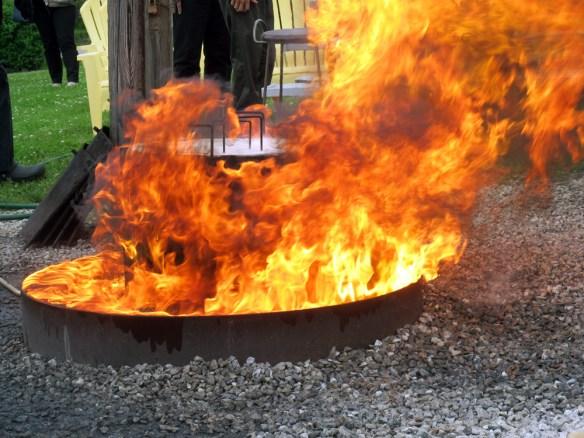 Door County Fish Boil fire