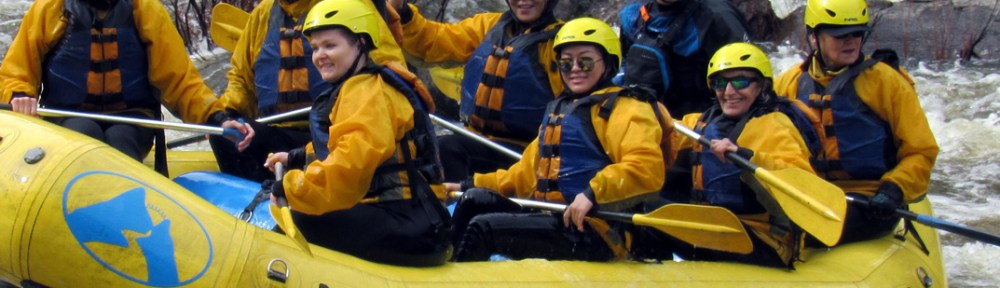 White Water Adventure - A tick on my bucket list - paddlers in the raft