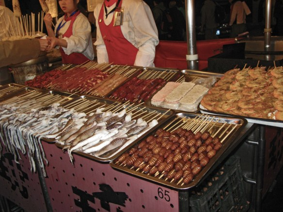 Beijing Night Market interesting selections at the Night market
