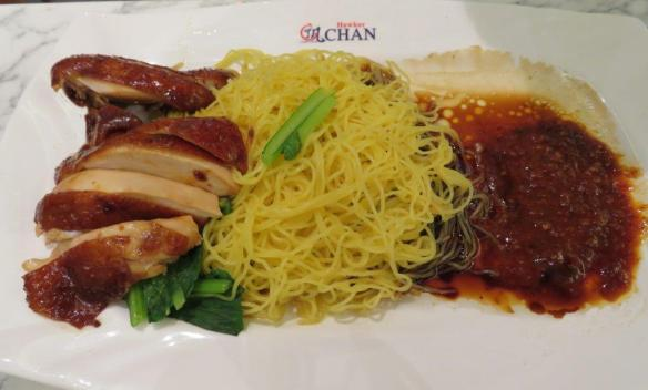 plate of chicken and noodles Singapore-Dining capital of Asia