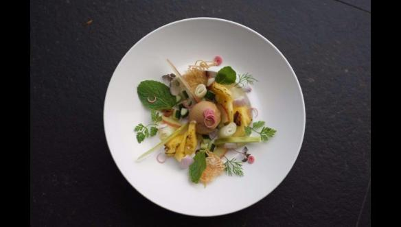 Beautiful plating of a traditional dish in Singapore-Dining capital of Asia