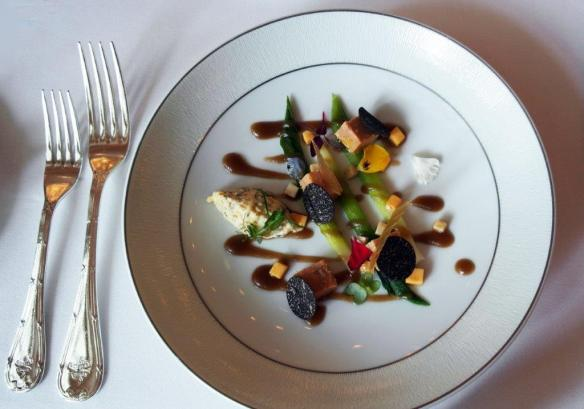 an elegant plating of food in Singapore-Dining capital of Asia