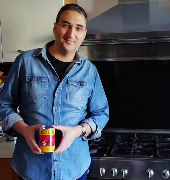 Antonio in front of his stove - Gnocchi