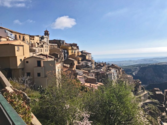 Badolato, a town whose houses straddle the side of a mountain