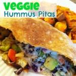 Happiness is Veggie Hummus Pitas