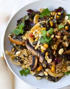 mushroom kale bowl