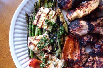week 1 grilled haloumi