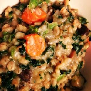 kale mushroom risotto