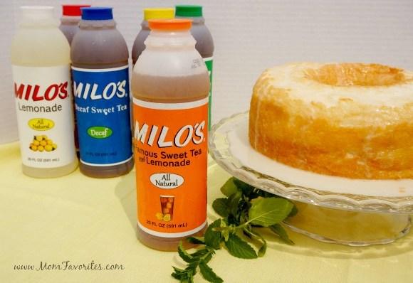 Angel Food Cake with Arnold Palmer Glaze, www.MomFavorites.com