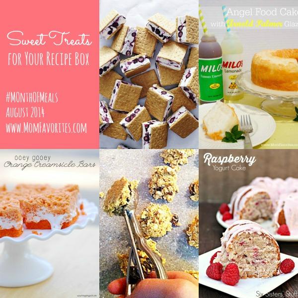 Sweet Treats- Month of Meals: www.MomFavorites.com