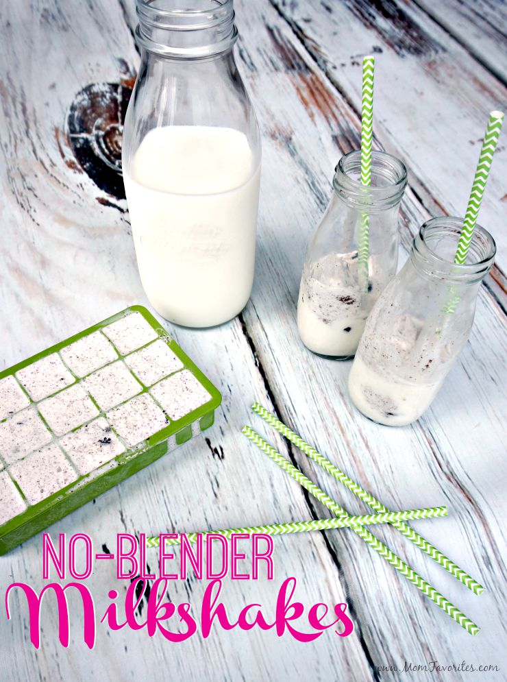 No blender needed milkshakes!  This fun Ice Cream Milk recipe uses ice cream cubes to make ordinary summer moments extra special!
