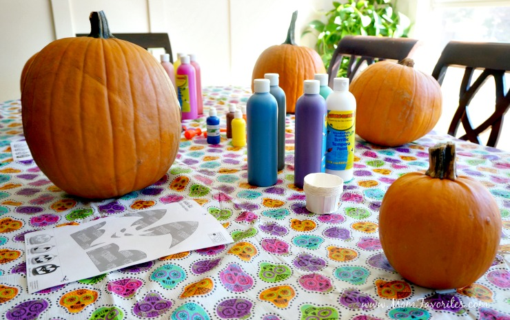 Host the perfect Halloween Party with pumpkin carving, pumpkin painting, and caramel apples