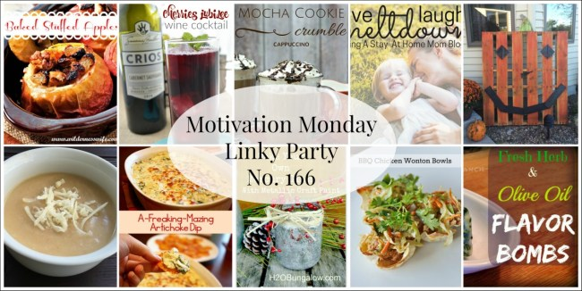 Motivation Monday Linky Party 166- Open Sunday 6:30 pm at www.alifeinbalance.net