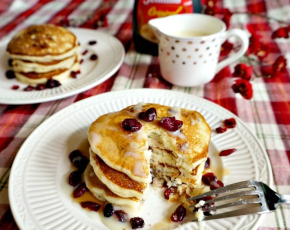 Let it be known! These are the pancakes your family will be begging for. Make weekend breakfasts special with the recipe for White Chocolate Cranberry Pancakes with White Chocolate Sauce.