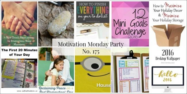 Motivation Monday Linky Party 175