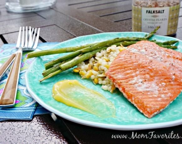 Grilled Salmon on Himalayan Salt Plates
