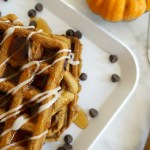 Pumpkin Spice Chocolate Chip Waffles