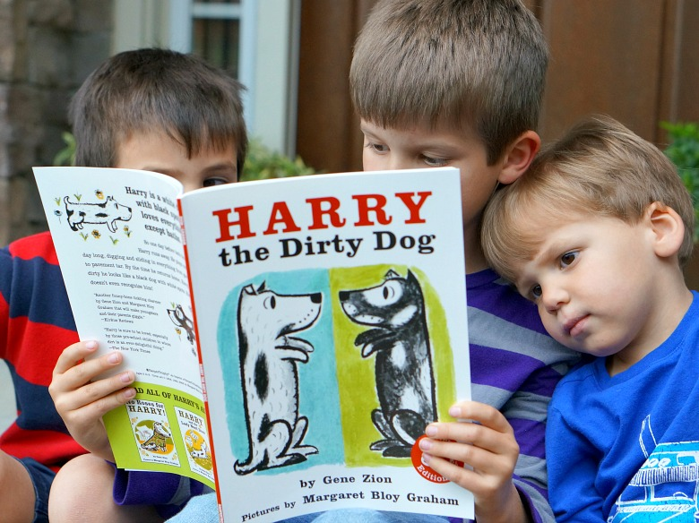 """Getting dirty doesn't stop Harry in """"Harry the Dirty Dog"""" from having fun. And, it doesn't stop us either! We're getting outside and making downright dirty Nature Cakes. With real dirt, these aren't so tasty, but super fun to make - for kids and pups of all ages!"""