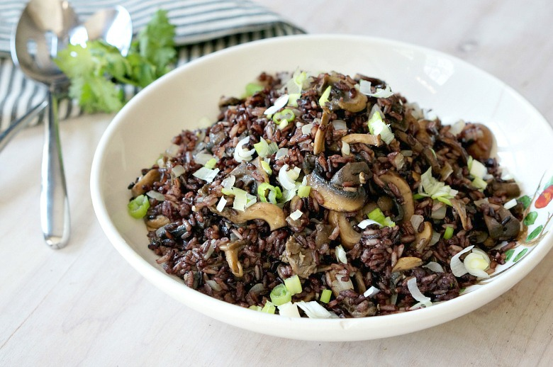 Make an extra-large batch of this Forbidden Rice Pilaf with Exotic Mushrooms to use in meals all week long. Serve with grilled meats and veggies, or use in salads and grain bowls for healthy and colorful meals.