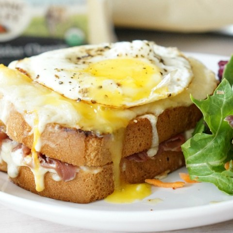 Take ordinary grilled cheese up a notch with this over the top and decadent recipe. The Ultimate Croque Madame with prosciutto, Organic Valley cheeses, and a rich bechamel sauce will have your whole family swooning!