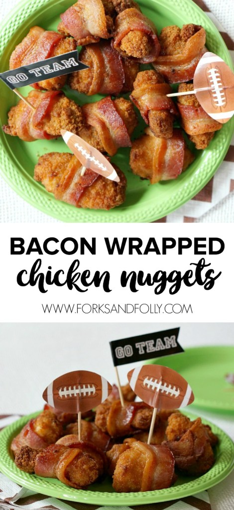 Bacon Wrapped Chicken Nuggets