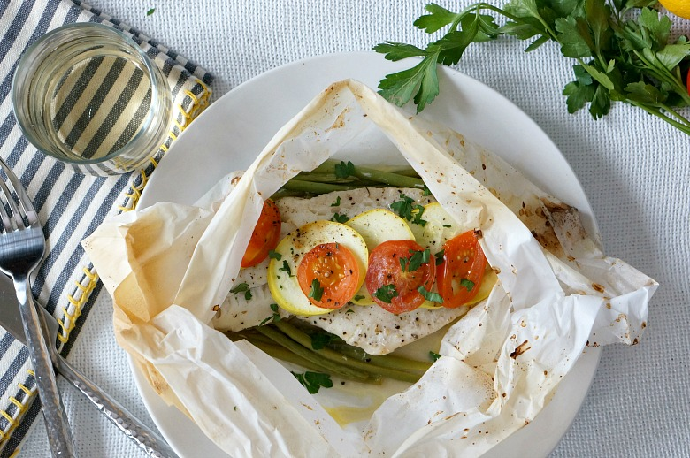 Whether you call it Baked Alaska Cod in Parchment or Poisson en Papillote... don't be intimidated!  Cooking in parchment is light and easy, with little cleanup!  It's perfect way to introduce more fish to your diet.