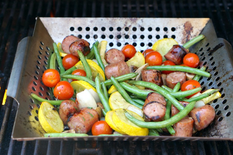 Grilled sausage... three ways.  The grilled sausage party appetizer and these two dinners will be your favorite meals of the summer. If you aren't drooling by the end of this post check your pulse!