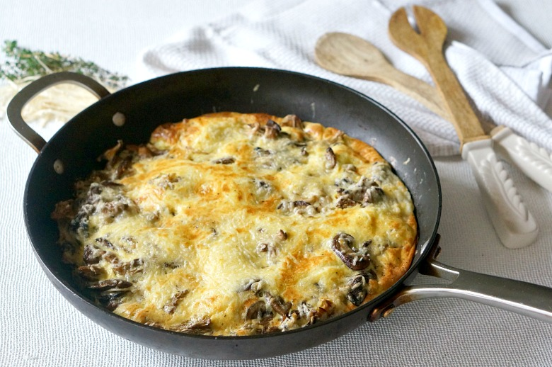 She may not be a beauty, but this Wild Mushroom Frittata tastes great.  Isn't that all that matters?!?