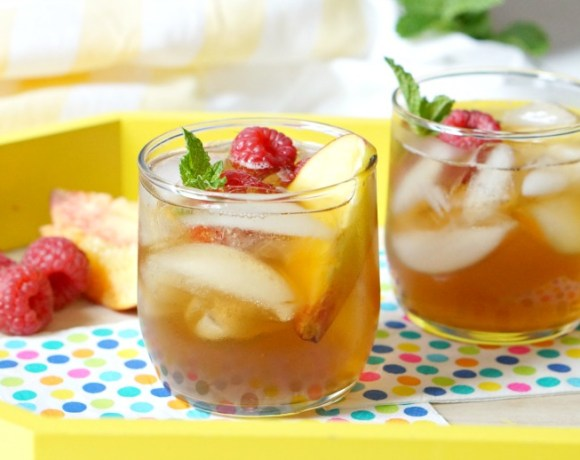 Summer afternoons are made for sweet tea.  But, on the weekends?  It's time to kick it up a notch with our Back Porch Sweet Tea Sangria.