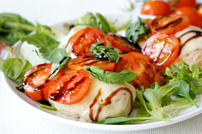 Our Grilled Chicken Caprese recipe comes together in less than 20 minutes with just five-ingredients. With melted cheesy goodness and fresh summer produce, this recipe is perfect for busy weeknights, but elegant enough for summer supper parties!
