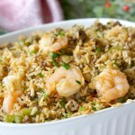 Spicy Dirty Rice Dressing with Shrimp & Sausage
