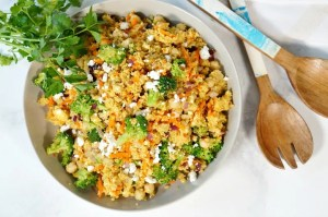 Curried Couscous with Chickpeas and Broccoli has been one of my favorite meal-prep friendly lunches for years, but it could also be a side dish or vegetarian-friendly entree.