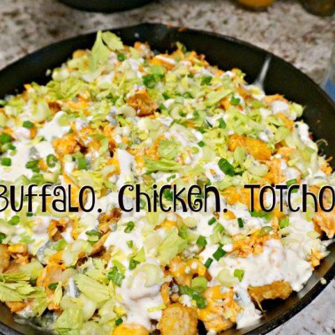 Buffalo Chicken Totchos