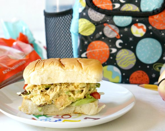 Send your kids off to school with our Lunchbox Pom Pom Chicken Salad Sandwich! Easy to make, but with that comfort food vibe, your kids will feel the love this back-to-school season.