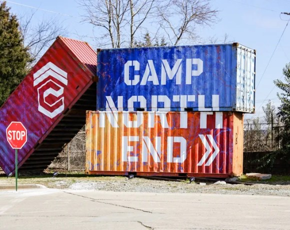 Grab a mask and a travel size bottle of hand sanitizer for a social-distanced adventure to Camp North End Charlotte. Perfect for families or grown-ups (yes, please!)
