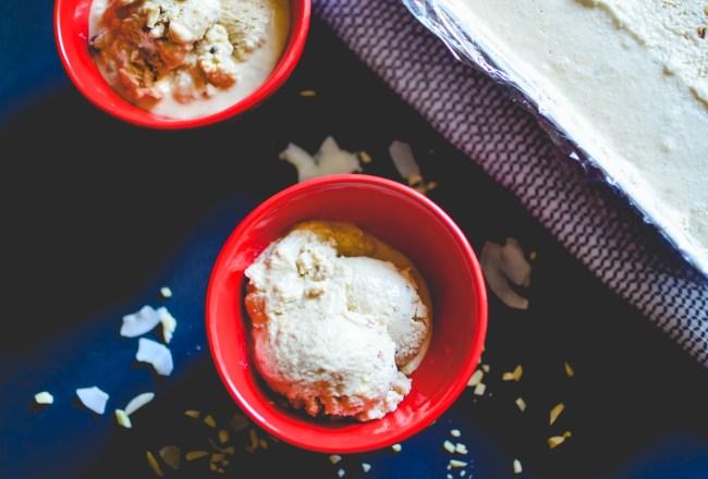 Coconut Almonds Chocolate-chip icecream