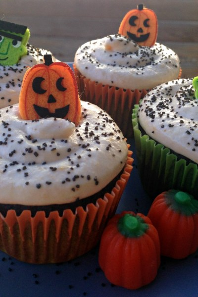 Chocolate Pumpkin Cupcakes
