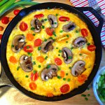 Sausage and Heirloom Tomato Frittata