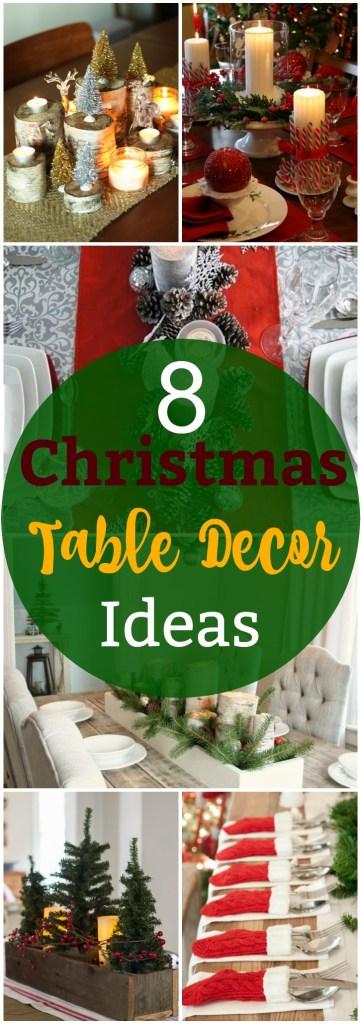 8 Christmas Table Decor Ideas