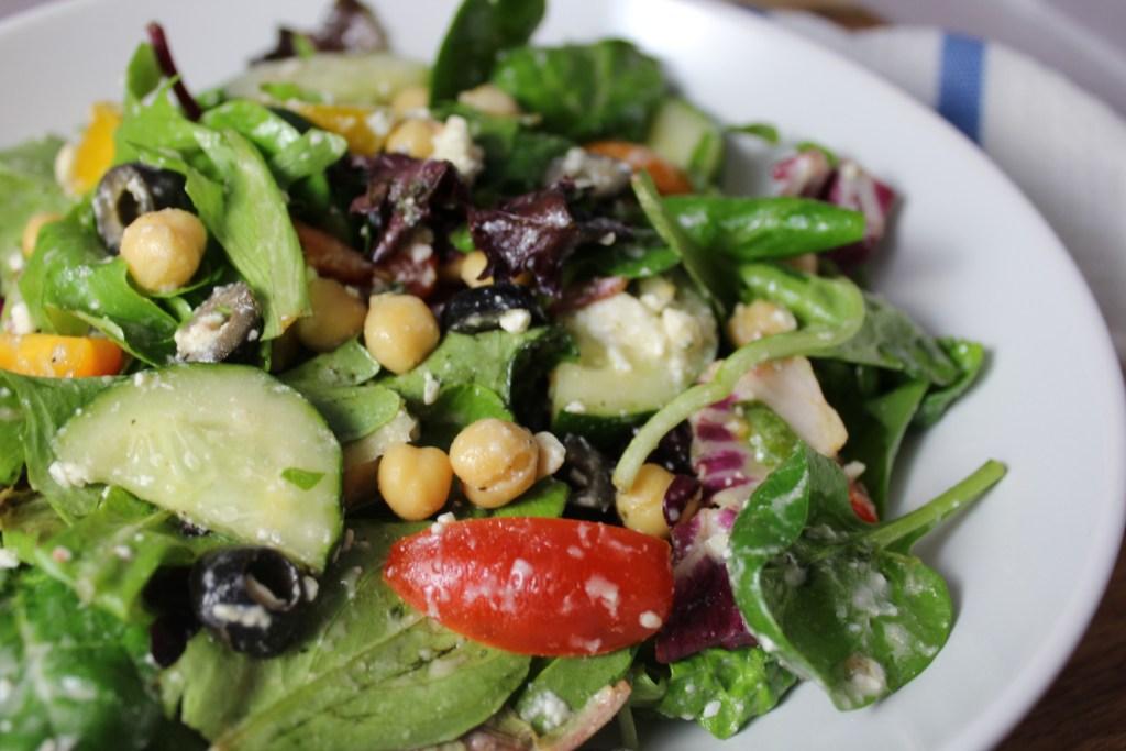 Healthy Greek Chickpea Feta Salad