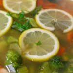 Lemon Basil Chicken Detox Soup