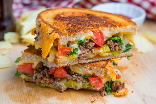 Bacon Double Cheeseburger Grilled Cheese