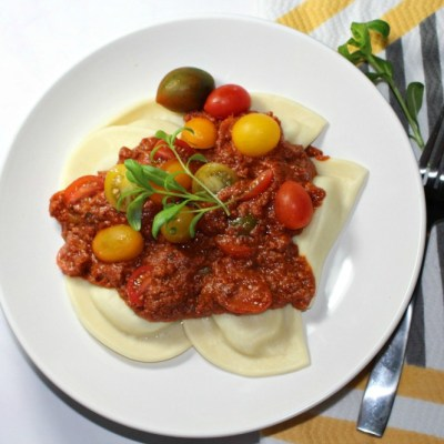 Pierogi with Homemade Meat Sauce
